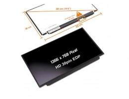 """LCD LED ZASLON 12.5"""" 1366 X 768 HD 700:1 LP125WH2-TPH1 za prenosnik HP, DELL, LENOVO, ASUS, ACER / 30PIN DESNO eDP / MAT / TANEK BREZ NOSILCEV"""