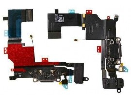 Apple iPhone 5S Sist. in poln. konektor na flex kablu črn