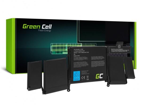 """Baterija Green Cell za prenosnik MacBook Pro 13"""" Retina Display A1502 (Early 2015), MF839LL/A, MF841LL/A/ 11,43V 6500mAh 74,29Wh"""