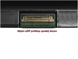 """LCD LED ZASLON 12.5"""" 1366 X 768 HD LP125WH2-SPM1 za prenosnik HP, DELL, LENOVO, ASUS, ACER / 30PIN DESNO / MAT / TANEK Z NOSILCI"""