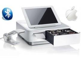 POS Sistem z predalnikom, tiskalnikom in čitalnikom Star mPOP, USB, Bluetooth (iOS), bela