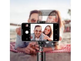 Selfie palica BASEUS SelfieSTAR PRO, zložljiva (črno-rdeča)