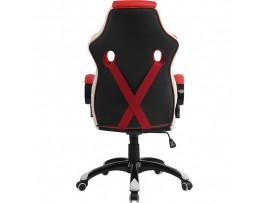 Gaming stol Bytezone Racer PRO (črno-siv-rdeč)