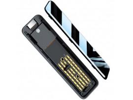 Zunanje ohišje BASEUS FullSpeed za M.2 SATA SSD diske, USB Type-C (črn)