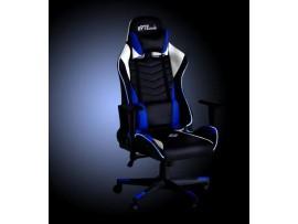 Gaming stol BYTEZONE WINNER z LED osvetlitvijo in daljinskim upravljalcem, Moder