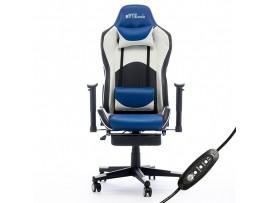 Gaming stol Bytezone DOLCE, masažna blazina (črno-moder)