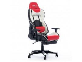 Gaming stol Bytezone DOLCE, masažna blazina (črno-rdeč)