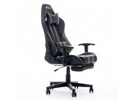 Gaming stol Bytezone PYTHON, masažna blazina / Bluetooth zvočniki (črno-siv)