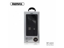 Polnilec REMAX 2.4 A Dual & USB Type-C kabel RP-U215 EU črn