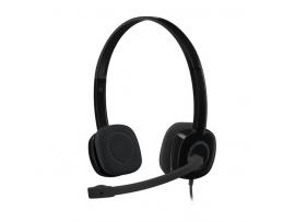Slušalke Logitech H151, črne, stereo