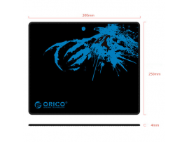 Podloga za miško ORICO MPA3025, mehka, črna