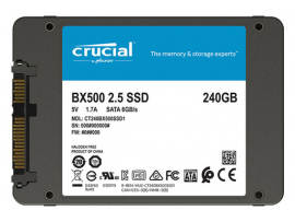 "SSD 240GB 2.5"" SATA3 3D TLC, 7mm, CRUCIAL BX500"