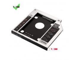 Adapter za SSD/HDD v 9,5mm DVD režo, SATA3, aluminij, Ewent EW7003