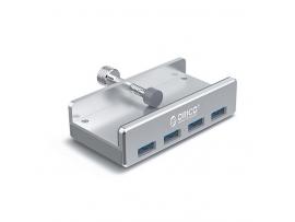 USB hub s 4 vhodi,  USB 3.0, zaponka, aluminij, ORICO MH4PU
