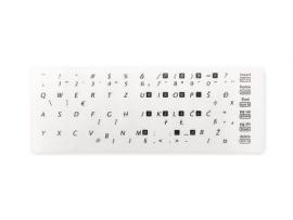 Nalepke za tipkovnico, 54 simbolov, prozorne, SLO