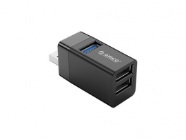 USB hub s 3 vhodi, 1x USB 3.0, 2x USB 2.0, črn, ORICO MINI-U32